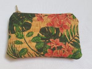 porte monnaie en liège fleuri